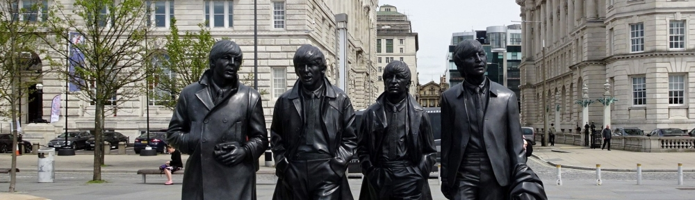 The Beatles statue, Merseyside, Liverpool